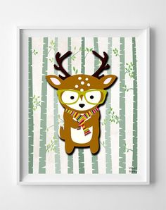 Woodland Deer White Background posters by Inkist Prints! This unique nursery decor print will make a great addition to any nursery and kids room. It would also be a great gift for baby shower and birthday. Nursery Room Decor, Nursery Art, Deer Nursery, Nursery Ideas, Woodland Animal Nursery, Woodland Baby, Poster Prints, Art Prints, Animal Prints