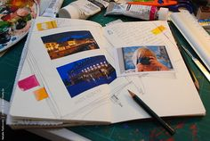 Travel book at home, steps