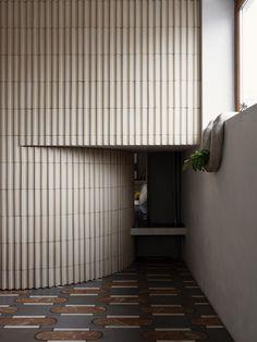 Ludivine Billaud, Cécile Bortoletti · Paris 10e Arrondissement · Divisare Beam Structure, Window Handles, Design Language, Colored Highlights, Entry Hall, Small Storage, Contemporary Architecture, Soft Furnishings, Bathroom Interior