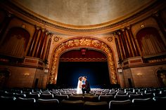 Wedding ceremony in the theatre on the stage Movie Theater Wedding, Broadway Wedding, Wedding Stage, Wedding Dj, Wedding Beauty, Wedding Pictures, Dream Wedding, Wedding Ceremony, Perfect Bride