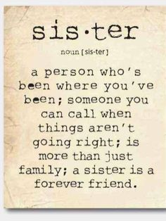 meaning of sister
