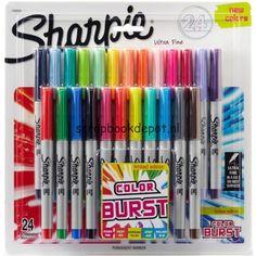 Sharpie Color Burst Ultra Fine Permanent Markers 24/Pkg