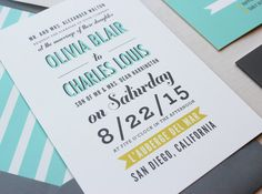Poster Type Modern Wedding Invitation via Etsy.