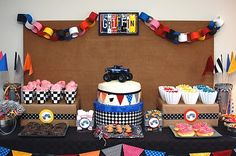 Monster Truck Birthday Party Ideas   Candy and Cake: Monster Jam Party