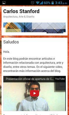 Saludo de bienvenida al blog.