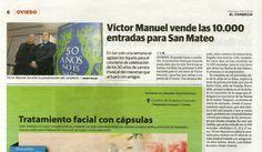 """Conciertos """"50 años no es nada"""": Noticia aparecida en """"El Comercio"""", 4 de marzo de 2014"""
