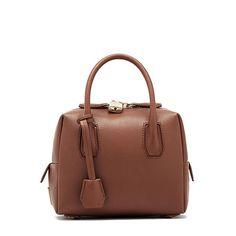 Mcm Mini Munich Tote In Brown Outlet Handbags Boston