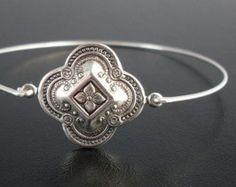 Medieval Bracelet Theme, Kaivana, Silver, Bohemian Style Jewelry, Stack Bangle Bracelet, Bohemian Stack Bracelet, Stacking, Bohemian Jewelry