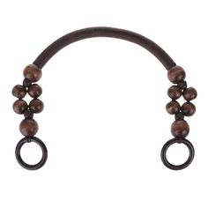 Handbag Handles Wooden Beads Rope Bag Strap Purse Handles Bag Handle DIY Replacement for Handmade Bag -- To view further for this item, visit the image link.-It is an affiliate link to Amazon. Audrey Hepburn, Vintage Style Outfits, Shoulder Handbags, Handle, Purses, Beads, Wood, Bracelets, Leather