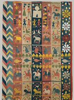 folky patterned rug - India