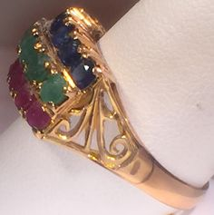 $799  Sapphire Lady's Stone Ring  14K Yellow Gold 4.2g  Size:10
