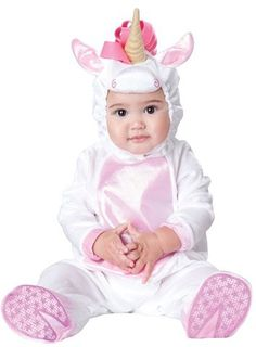 InCharacter Costumes 'Magical Unicorn' Footie & Hat (Baby Girls)