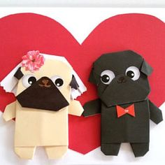 Pug Dog Origami Wedding Card, Pop up art card, Funny Handmade Anniversary Greeting Card, Boyfriend, Anniversary Cards For Boyfriend, Anniversary Greeting Cards, Anniversary Funny, Funny Greeting Cards, Greeting Cards Handmade, Pug Wedding, Funny Wedding Cards, Wedding Cards Handmade, The Pug