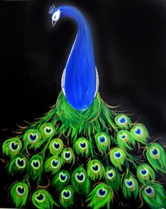 Peacock Beauty - Painting with a Twist I visit mine in orlando about one's a month! It is so much fun. The instructors are patient and funny. Im always surprised by my results. Painting with a twist orlando!