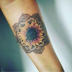 25 best Sunflower mandala tattoo ideas on Sunflower mandala, Mandala tattoo sleeve and Ocean life tattoos, click now. Sunflower Mandala Tattoo, Sunflower Tattoos, Sunflower Tattoo Design, Floral Mandala Tattoo, Sunflower Tattoo Sleeve, Sunflower Tattoo On Shoulder, Colorful Sunflower Tattoo, Half Mandala Tattoo, Mandala Rose