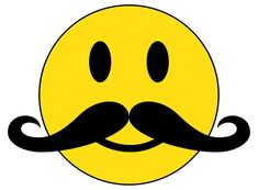 Image result for smiley face with mustache