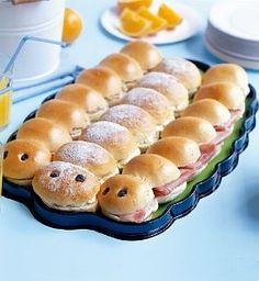 Children's caterpillar platter