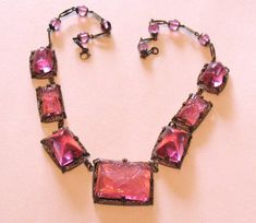 1920s Necklace Czechoslovakia Art Deco Bright by SpiderVintage