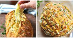 Pan de pueblo con pesto y queso