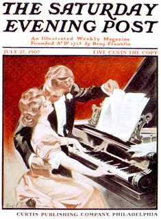 Couple Kissing at Piano (1907). Frank X. Leyendecker The Saturday Evening Post, July 27, 1907.