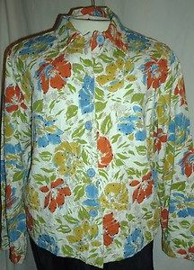 I don't love this particular pattern but I do love a lot of Keren Hart jackets, and have several. 100%Cotton Jacket,White w/Yellow,Orange,Blue,Green Floral, Size Large