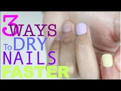 3 ways to dry nails faster.