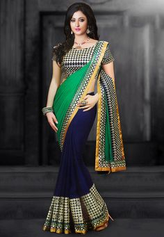 Liven up your wardrobe with pure georgette sarees. Browse from a vast collection of georgette sarees online in striking designs, colors, and works incl. zari, traditional, and a lot more. Bollywood Designer Sarees, Bollywood Saree, Indian Bollywood, Designer Sarees Collection, Saree Collection, Latest Party Wear Suits, Designer Suits Online, Lehenga Saree Design, Pure Georgette Sarees