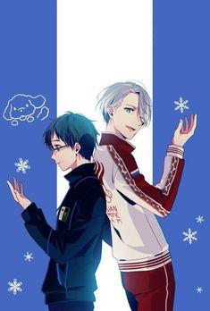 Love On Ice, ユーリ!!! On Ice, Anime Naruto, Anime Manga, Yuri On Ice Fondos, Yuuri Katsuki, Yuri Plisetsky, Shounen Ai, Cute Gay