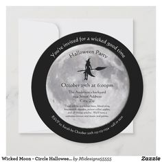 Halloween Images, Halloween Cards, Halloween Diy, Halloween Costume Party Invitations, Moon Circle, Wicked Good, Invitation Cards, Birthday Invitations, Party Time