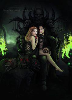 Hades and Persephone by JunePage.deviantart.com on @DeviantArt