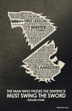 Game of Thrones Quote Poster  11 x 17 by UnikoIdeas on Etsy,