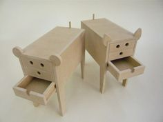 Cool idea for tables for a child's room.