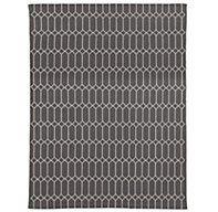Extended Diamond Flatweave Rug - Graphite/Taupe