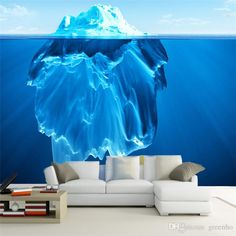 The Last Iceberg Wallpaper Custom 3D Wall Mural Personalized Giant Photo Wallpaper Art Nature landscape Mural Kid's room Decor Wall art