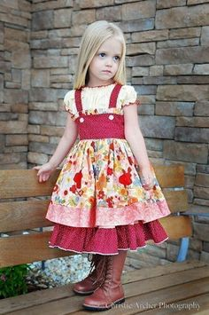 Diore  Full Skirted Twirly Girls Skirt by spiceberrycottage, $12.00