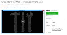 Understand the Mac Terminal/Command Line  http://hii.to/V1-mqvPrl  #udemy #coupon #discount #learn #mac