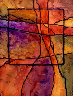 Gemstone 9, 12071 mixed media abstract Carol Nelson Fine Art, painting by artist Carol Nelson
