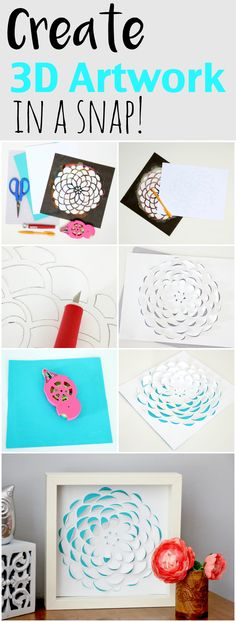 Easily create 3D flower art with just paper and a craft knife. You won't believe how easy this project is!