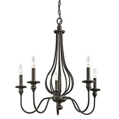 Shop for Kichler Lighting Kensington Collection 5-light Olde Bronze Chandelier. Get free shipping at Overstock.com - Your Online Home Decor Outlet Store! Get 5% in rewards with Club O!