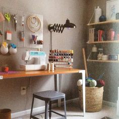Organized sewing space