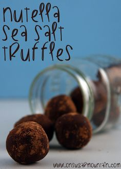 Nutella Sea Salt Truffles