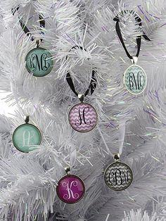 Monogram Ornaments - $9.99. https://www.bellechic.com/deals/29815108aa6c/monogram-ornaments
