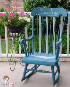 Atta Girl Says: Milk Paint Carolina on My Mind Rocking Chair