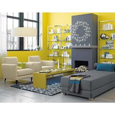 Yellow and gray living