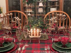 The Last Christmas Table Setting of the Season – Between Naps on the Porch Christmas Table Settings, Christmas Tabletop, Tiered Planter, Last Christmas, White Christmas, Beautiful Table Settings, Place Settings, Beautiful Roses, Cottage Style