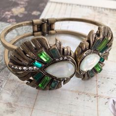 Marquesas Statement Hinge Bracelet •Part of my C+I sample sale• From the Marquesas Summer 2015 Collection; completely sold out. This is one of the most beautiful statement bracelets the brand has ever made. It hinges open for a comfortable + easy fit, + it is not heavy or overbearing on the wrist! Will fit all sizes. Jewelry Bracelets