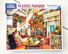 Readers Paradise -1000 Piece Jigsaw Puzzle -White Mountain Puzzles -Book Lovers