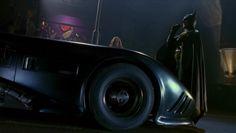 "Made for Movie Batmobile in ""Batman"" Batman Poster, Batman Artwork, Batman Vs Superman, Dark Comics, Marvel Dc Comics, Michael Keaton Batman, Tim Burton Batman, Batman Returns, Two Movies"