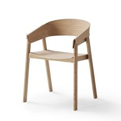 Buy Muuto Cover Dining Chair online with Houseology Price Promise. Full Muuto collection with UK & International shipping. Painted Wooden Chairs, Chair Design Wooden, Cute Desk Chair, Diy Chair, Luxury Office Chairs, Muuto, Chair Leg Floor Protectors, Upholstered Swivel Chairs, Wooden Armchair