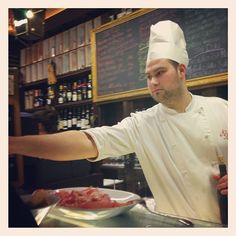 Serving #wine and #meat at Bottega del Vino. #Verona